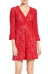 Charles Henry Women's Lace Babydoll Dress