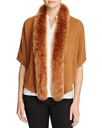 Magaschoni Fox Fur Trimmed Cashmere Cocoon Cardigan Chillion Castle Mouline