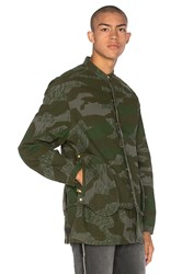 Mr. Completely Camo Banded Collar Jacket Army