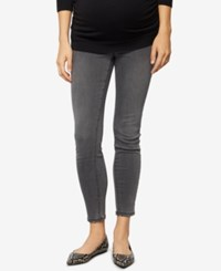 A Pea In The Pod Luxe Essentials Maternity Steel Grey Wash Ankle Skinny Jeans