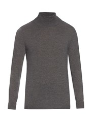 Acne Studios Joakim Roll Neck Wool Sweater Grey