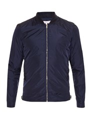 Orlebar Brown Zip Through Nylon Bomber Jacket Navy