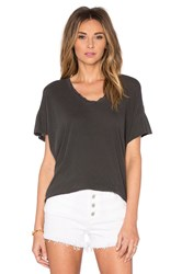 The Great Lace U Neck Tee Black
