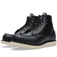 Red Wing Shoes Red Wing 8130 Heritage Work 6' Moc Toe Boot Black