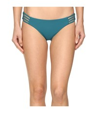 Red Carter Splice Dice Side Strap Classic Hipster Bottoms Lagoon Women's Swimwear Blue