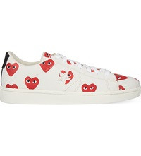 Comme Des Garcons Converse Cons Low Top Trainers White Heart