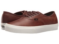 Vans Authentic Leather Dachshund Potting Soil Skate Shoes Brown