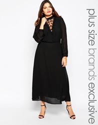 Alice And You Alice And You Lace Yoke Victorian Maxi Dress Black
