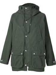 Givenchy Classic Hooded Parka Green
