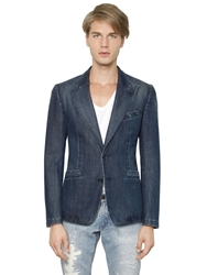 Dolce And Gabbana Deconstructed Soft Denim Jacket Blue