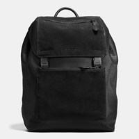 Coach Manhattan Backpack In Patchwork Leather Black Black