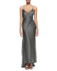 L'agence Romy Bias Cut Gown Size 8 Multi Colors