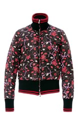 Emilio Pucci Lip Printed Down Jacket Multi