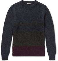 Bottega Veneta Degrade Wool Sweater Navy