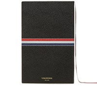Thom Browne Large Leather Notebook Black