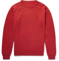 The Elder Statesman Eder Cashmere Sweater Red