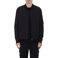 Vince. Men's Utility Bomber Jacket Black Blue Black Blue
