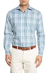 Peter Millar Men's 'Nano Luxe' Regular Fit Plaid Sport Shirt