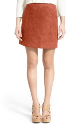 Women's Love By Design Faux Suede Miniskirt Brown