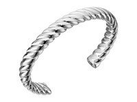 Sam Edelman Twisted Rope Cuff Bracelet Rhodium Bracelet Gray