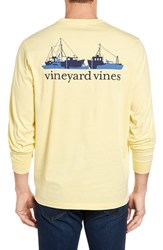 Vineyard Vines Men's Fishermans Fleet Graphic Pocket Long Sleeve T Shirt