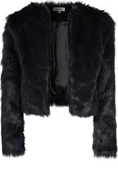 Alice And You Fur Coat Black