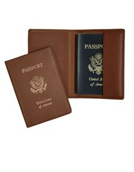 Royce Handcrafted Rfid Blocking Passport Travel Organizer Tan