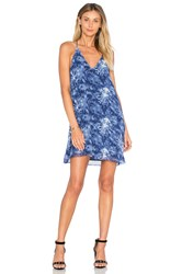 Three Eighty Two Tanner Slip Mini Dress Blue