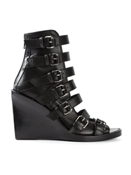 Ann Demeulemeester Blanche Wedge Sandals Black