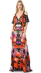 Temperley London Strappy Myrtle Dress Black Poppy