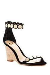 Vc Signature Elodie Scalloped Wedge Sandal Black