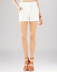Bcbgmaxazria Bcbg Max Azria Shorts Addison Paper Bag Off White