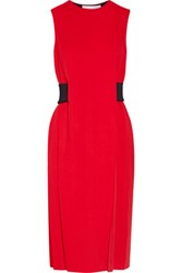 Alexander Wang Belted Crepe Dress Red
