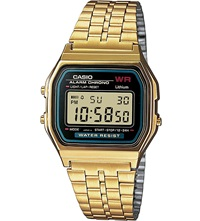 Casio A159wgea1ef Unisex Gold Plated Digital Watch