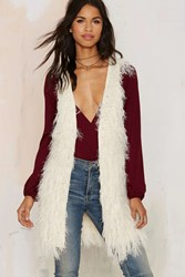 Nasty Gal Faux Mo Shaggy Vest