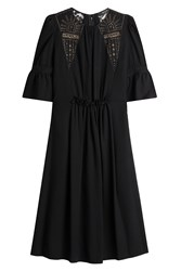 Etro Embroidered And Embellished Dress With Lace Black