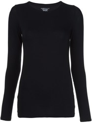 Majestic Filatures Round Neck T Shirt Black