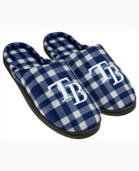 Forever Collectibles Tampa Bay Rays Flannel Slide Slippers Navy