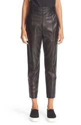 Vince Women's 'Carrot' Tapered Leg Leather Ankle Pants