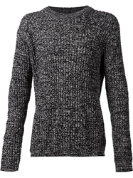 Chapter Marled Thick Knit Sweater Grey