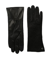 Cole Haan Braided Back Leather Gloves With Tech Black Extreme Cold Weather Gloves