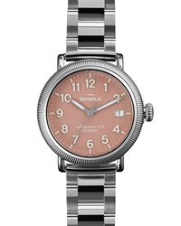 Runwell Stainless Steel Coin Edge Watch With Bracelet Strap 38Mm Shinola