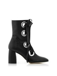 Miista Alycia Lace Up Ankle Boots Black