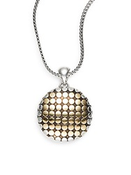 John Hardy Dot 18K Yellow Gold And Sterling Silver Locket Pendant Gold Silver