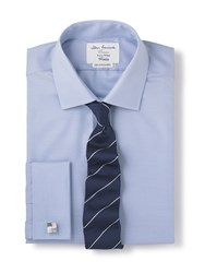 T.M.Lewin Men's Tm Lewin Non Iron Fitted Shirt Blue