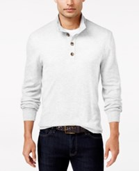 Club Room Men's Waffle Knit Thermal Mock Neck Shirt Only At Macy's Winter Ivory