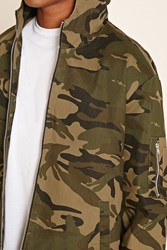 Forever 21 Hooded Camo Jacket