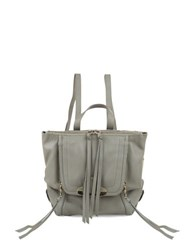 Kooba Bobbi Zip Flap Leather Backpack Concrete