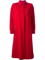 Gianfranco Ferre Vintage Long Coat Red