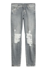 7 For All Mankind Seven For All Mankind Distressed Skinny Jeans Grey